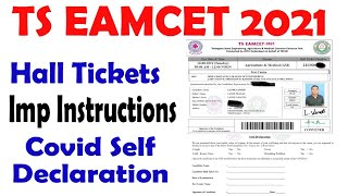 TS EAMCET Hall Ticket 2021 & Imp Instructions