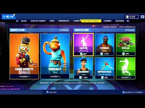 BOUTIQUE FORTNITE du 27 Décembre 2018 ! ITEM SHOP December 27 2018