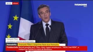 """François Fillon : """"Oui j"""