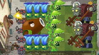 Plants vs Zombies 2 - Snap Pea Coconut Cannon and Moonflower