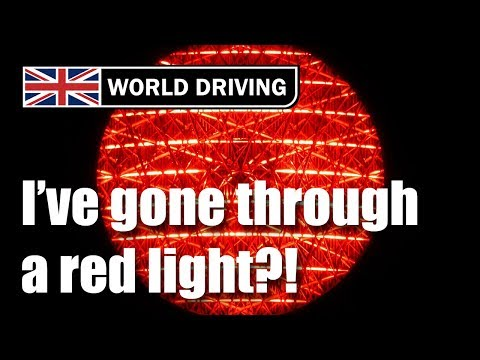 I've gone through a red light?! Driving lessons - driving in the UK