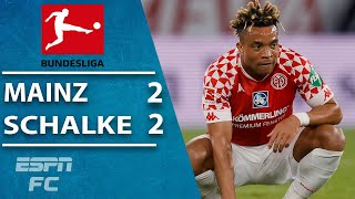 Jeremiah st. juste scores at the wrong end with less than 10 minutes left to play as mainz 05 blow their chance a vital win over fellow bundesliga struggl...