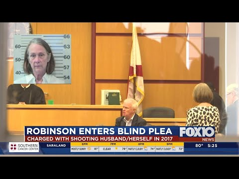 Melodie Robinson enters blind guilty plea