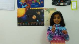 Solar System facts by 4 years old kid