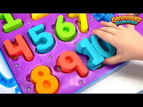 Thumbnail: Learn Numbers for Toddlers Teach Counting with Genevieve and Cookie Monster on the Go Numbers Toy!