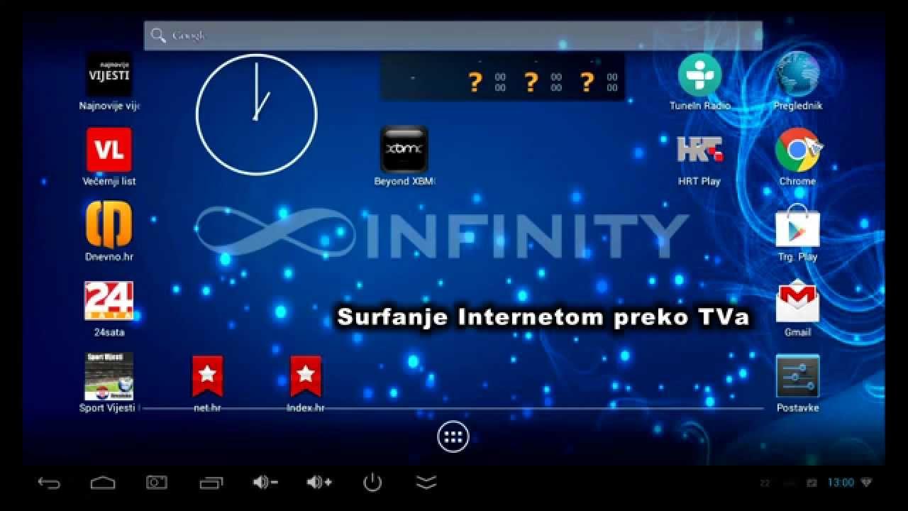 Infinity XBMC android IPTV box - što sve nudi