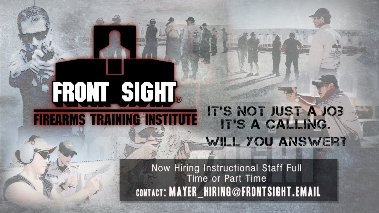 Front Sight Firearms A Calling Become A Firearms Instructor