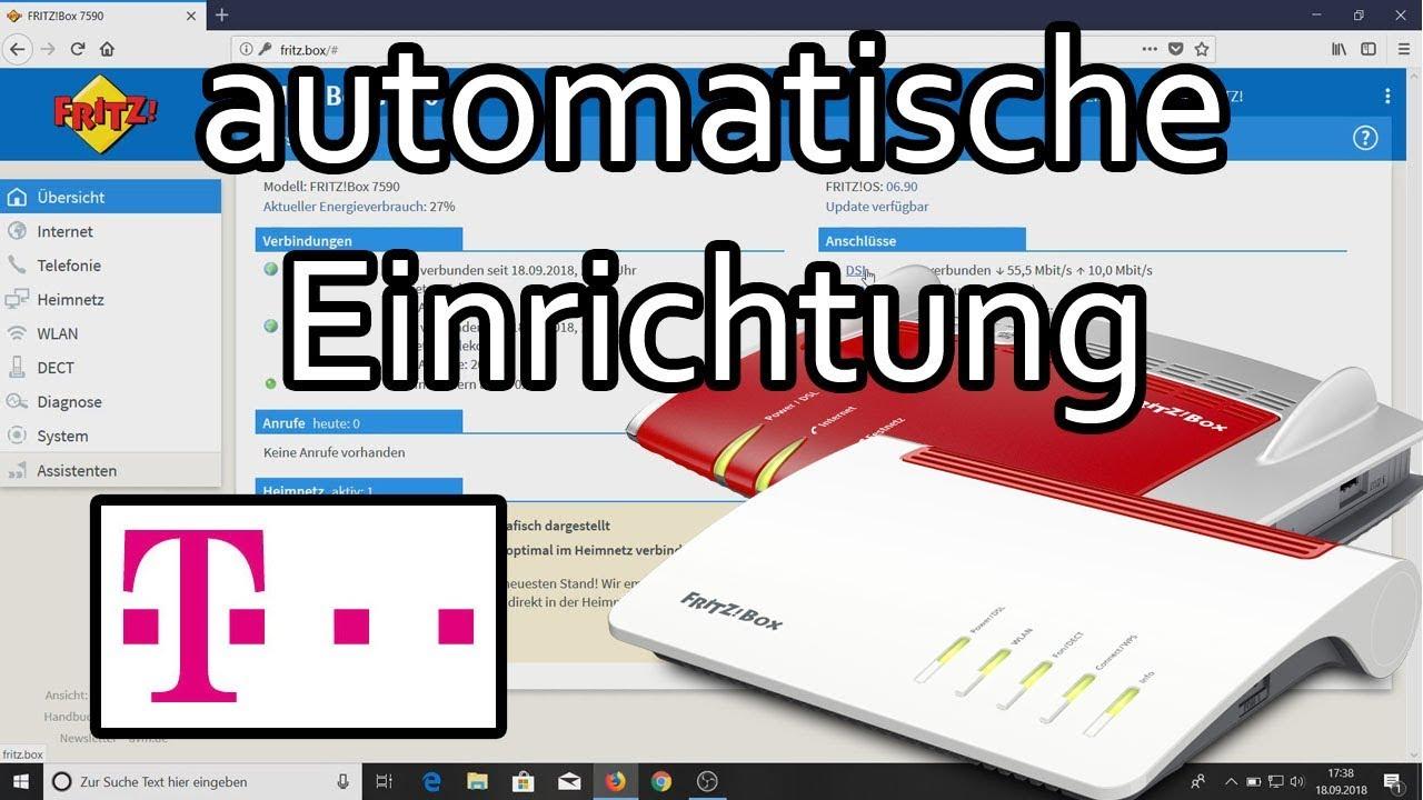 Fritzbox Am Telekom Anschluss Die Automatische Einrichtung Youtube