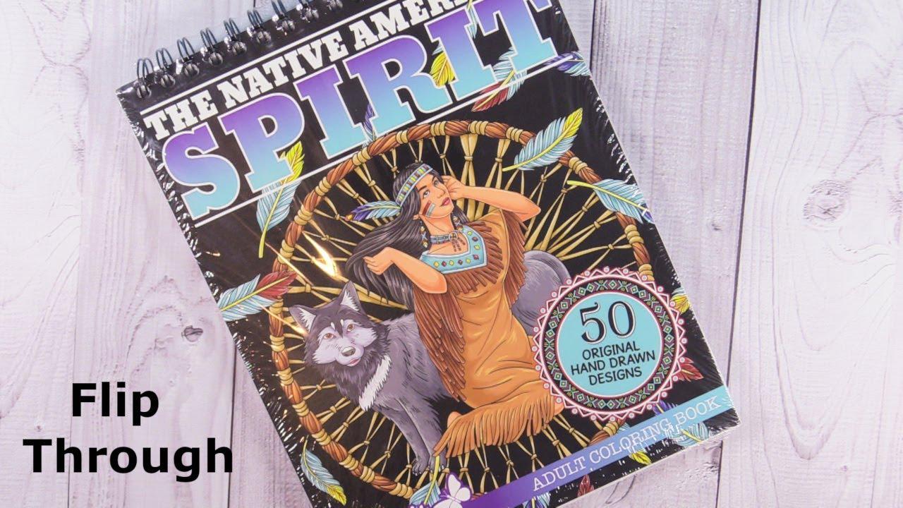 - ColorIt The Native American Spirit Coloring Book Flip Through Thru
