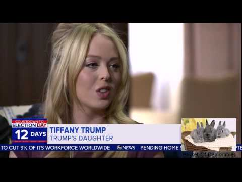 Tify Trump, Ivanka Trump, and Trump Family  on GMA Good Morning America HD 2016 OCT 27