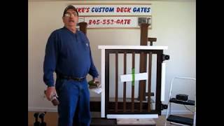 Mike's Custom Deck Gates - Installation Video (www.trexdeckgates.com)