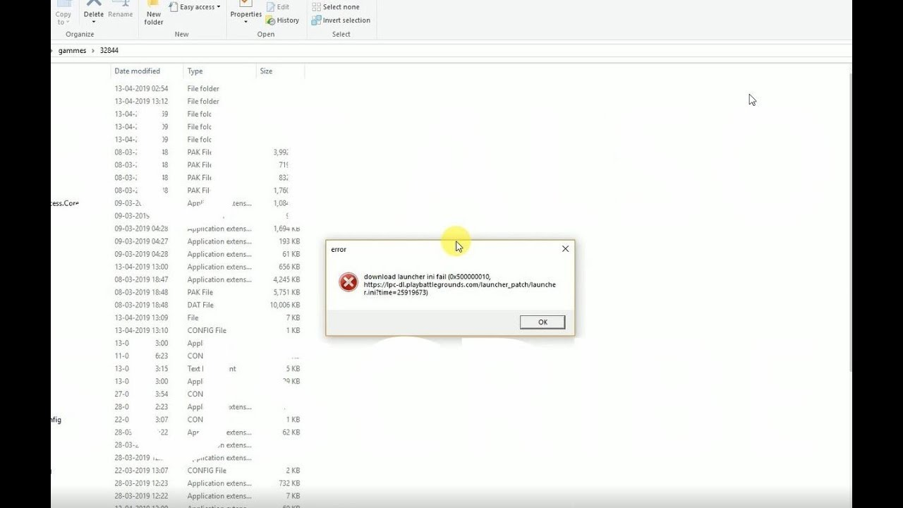 pubg lite download launcher in fail (0x500000010) error fix