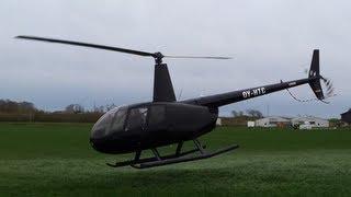 Robinson R44. Very Close Landing And Takeoff. 1080p!