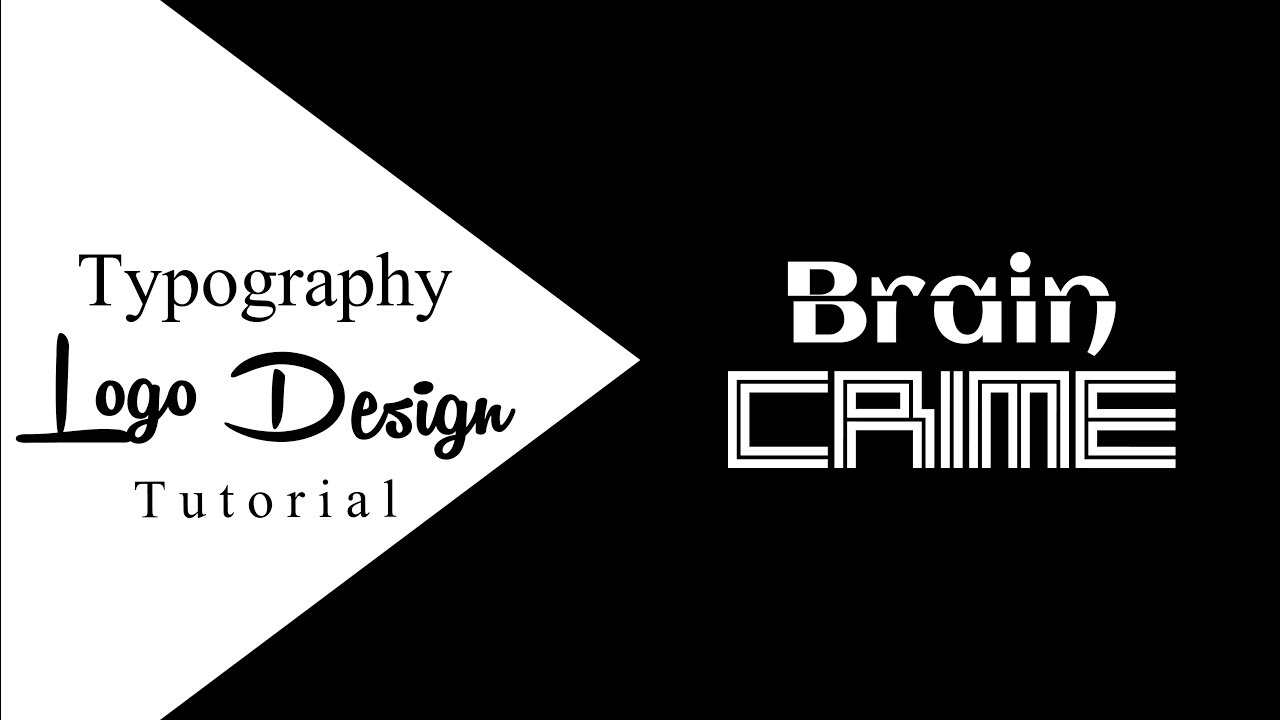 Typography Logo | Learn How To Make A Design With Text Fonts - Tutorial