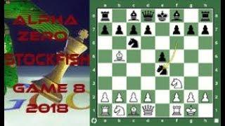 AlphaZero vs Stockfish. A prolific Open Berlin Pawn Pusher  Game 8  2018 Video