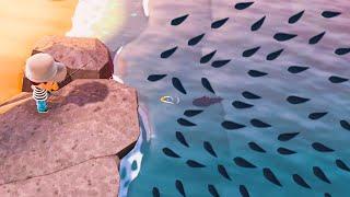 【図鑑完成】どうぶつの森でサカナ全80種類を釣り上げましたwww