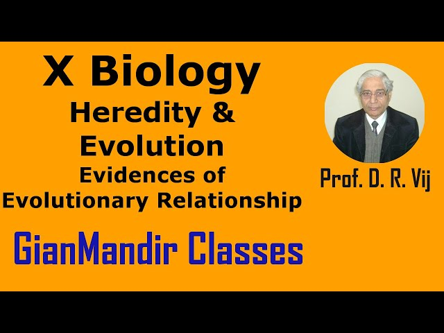 X Biology | Heredity & Evolution | Evidences of Evolutionary Relationship by Manjit Ma'am