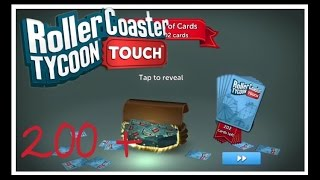 200 card pack opening   rollercoaster tycoon touch   rct touch