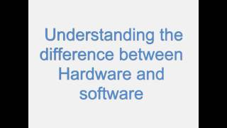 Understanding the difference between computer hardware and software