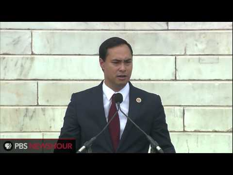 Congressman Joaquin Castro of Texas Speaks at March of Washington Anniversary