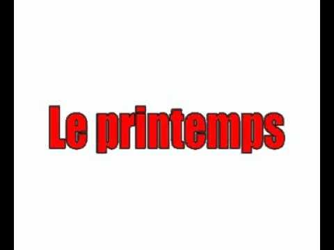Assez Lezione di francese = le stagioni - YouTube IG08