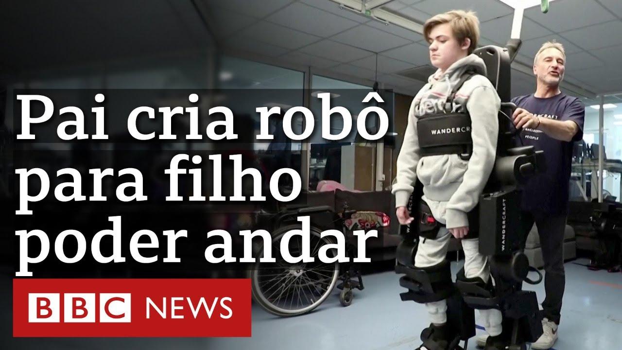 Pai cria robô exoesqueleto para filho com paralisia poder andar