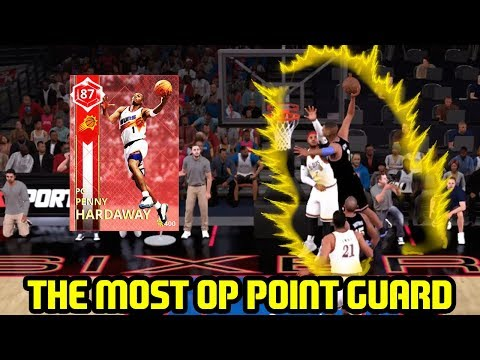 RUBY PENNY HARDAWAY IS THE MOST OP POINT GUARD! POSTER DUNKS! NBA 2K18 MYTEAM SUPERMAX GAMEPLAY