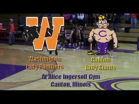 Washington Lady Panthers at Canton Lady Giants GBB 12 1 2017
