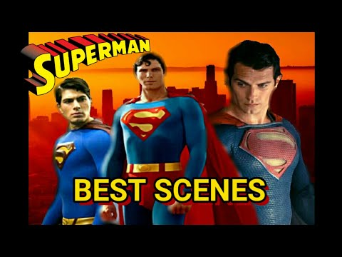 Superman Best Scenes (movies Only)