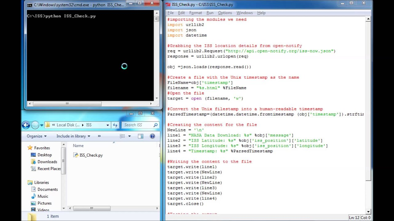 Tracking the International Space Station with Python