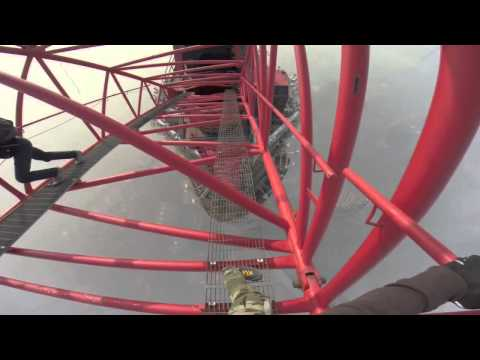 Illegal climb to the top of Shanghai Tower 650 meters