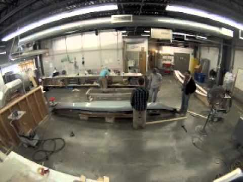 Landing School Composite Students Work on Construction of a Carbon Fiber Kayak