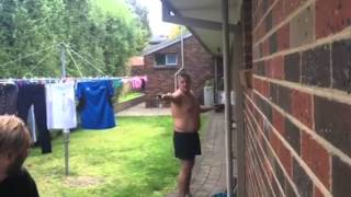 One of Angry Dad's most viewed videos: AngryDad having trouble with the sprinkler