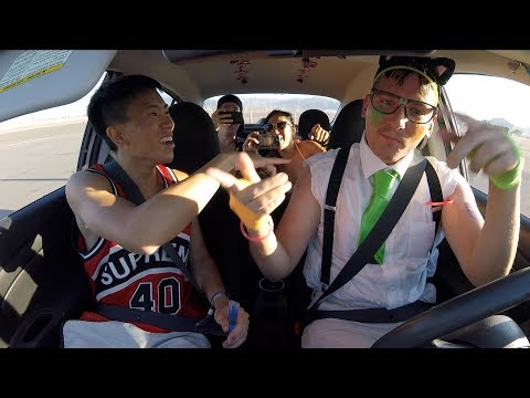NERDY UBER DRIVER SURPRISES RAVERS AT EDC!!!