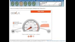 Test débit fibre orange à Nice 647 Mo/s
