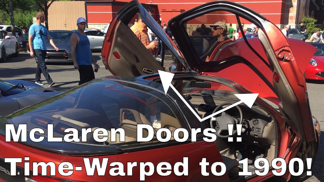 McLaren dihedral doors in 1990! & McLaren dihedral doors in 1990! - YouTube