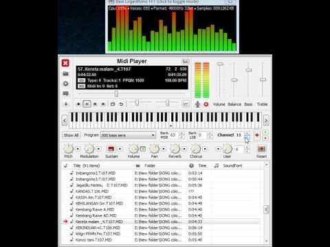 KERETA MALAM sampling via MIDI PLAYER