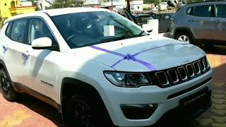 Jeep compass 2018  || Sport model || white colour full review