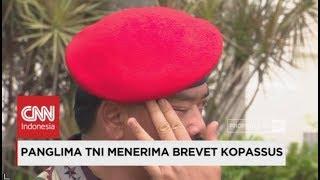 Berkaca Kaca; Haru Panglima TNI Usai Menerima Brevet Kopassus