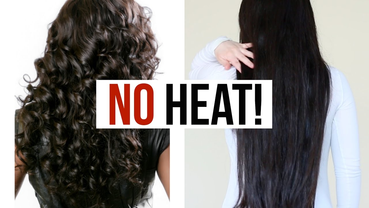 How to straighten hair without ironing and hair dryer at home 17