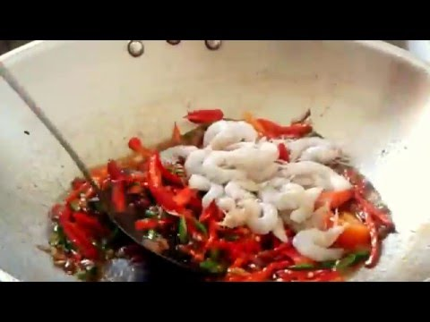 sambal tauco tahu goreng campur udang(salted soy bean mixed fried tofu shrimp sauce)