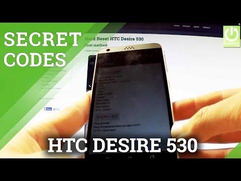 Secret Codes HTC Desire 530 - Hidden Menu