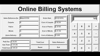 How to create billing systems in python using frame, labels, buttons , entry widgets and function definition. the tutorial also include date an...