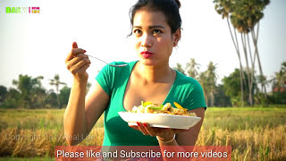 Amazing Village girl fried Pork with Corn near The Farm - How to Cook Village Corn Mix Pork Recipe