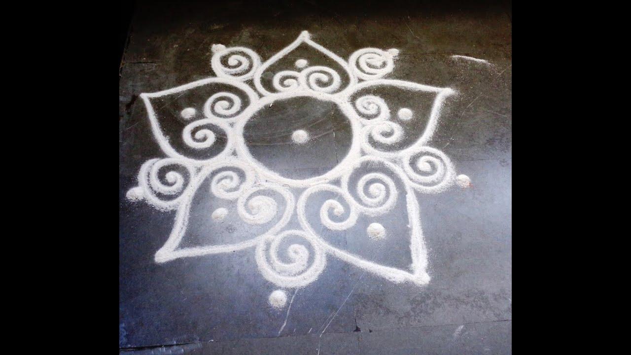 how to draw sanskar bharti easy rangoli design - YouTube