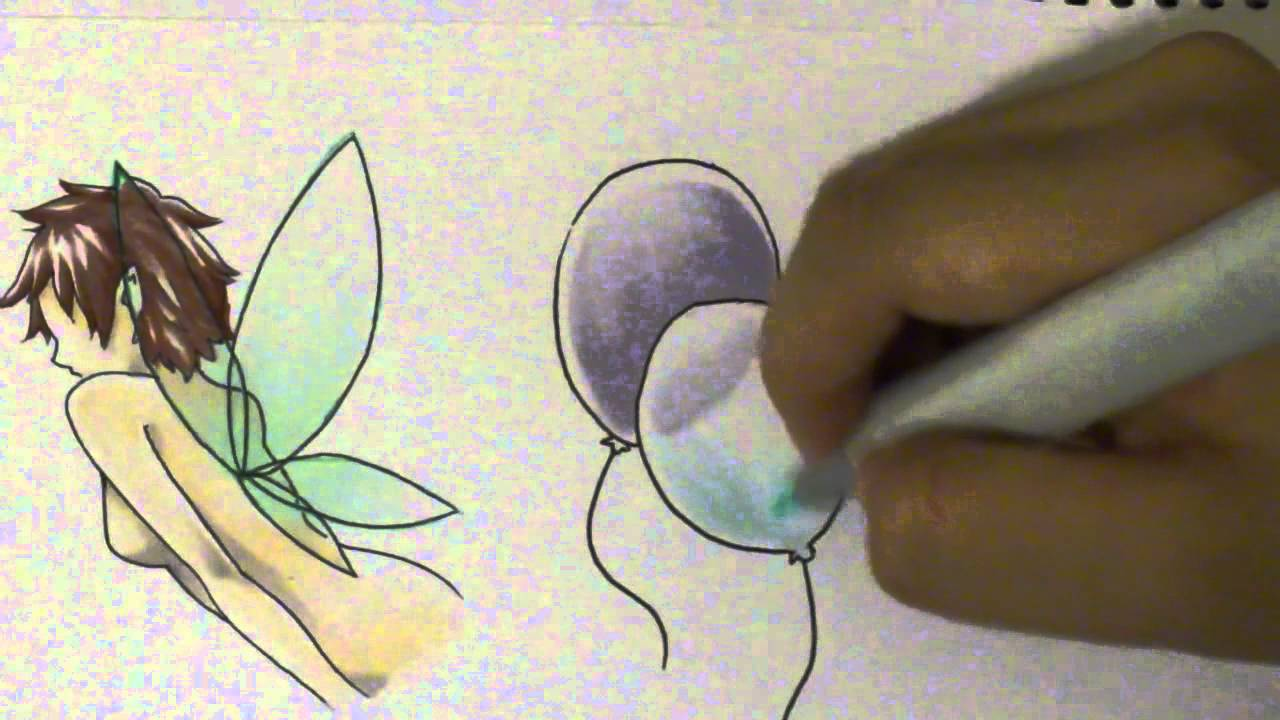 How to Color Transparent Objects with Copics - YouTube