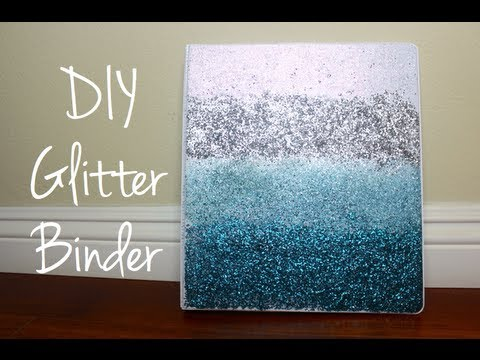 DIY Ombre Glitter Binder YouTube