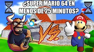 Reto #10 Super Mario 64 en menos de 25 minutos - Speedrun Retro Toro