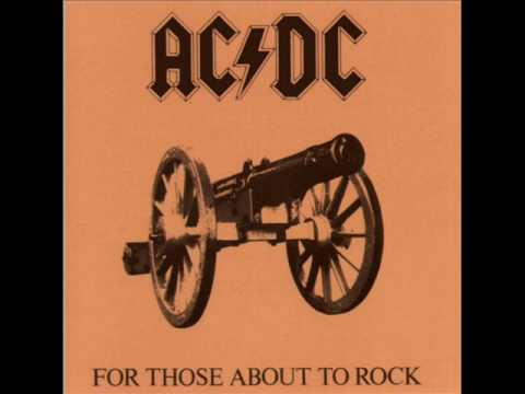 ACDC For Those About To Rock with lyrics