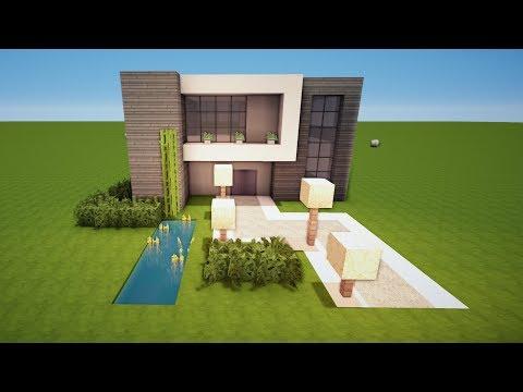 Minecraft Spielen Deutsch Minecraft Modernes Haus Nachbauen Bild - Minecraft modernes haus nachbauen